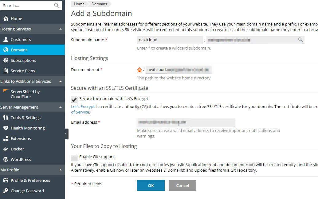 In this Howto I will show you to install Nextcloud 16 on a